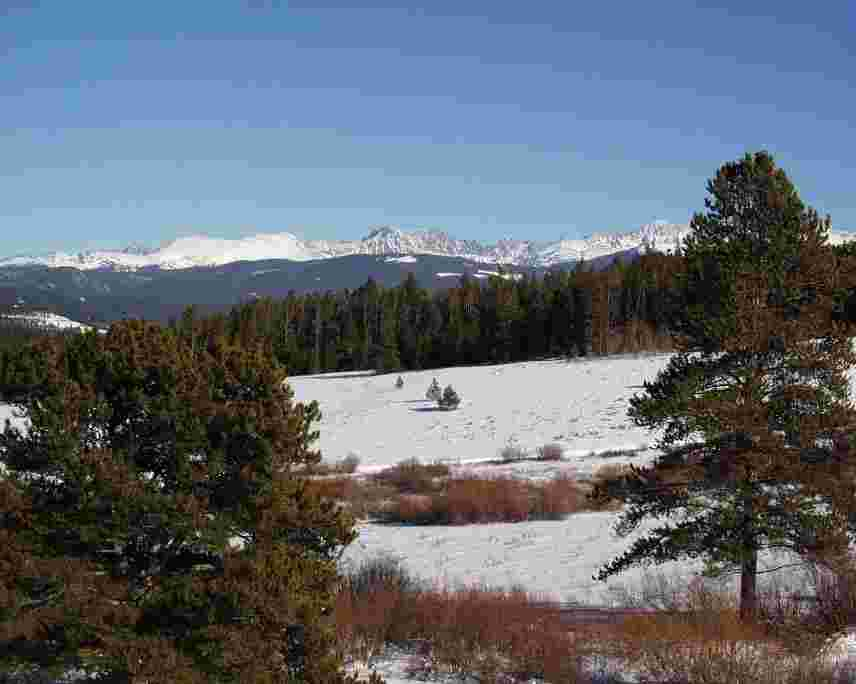 Looking down Pole Creek at Snow Mountain Ranch